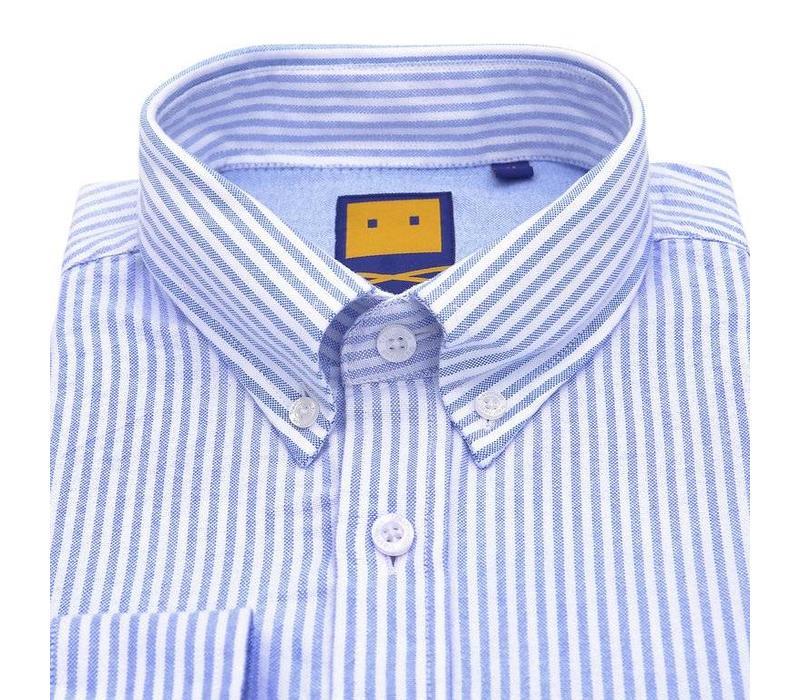 OCBD STRIPED BLUE SHIRT