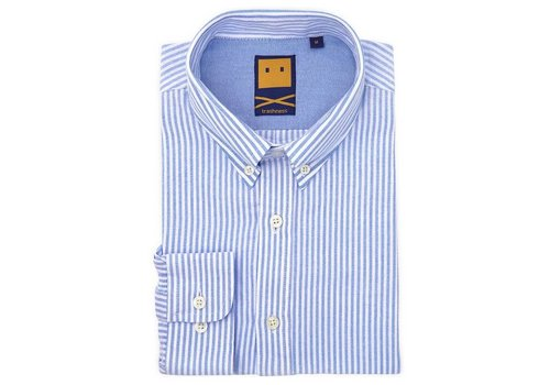 Trashness OCBD STRIPED BLUE SHIRT