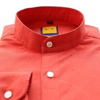 SPECKLED MANDARIN RED SHIRT