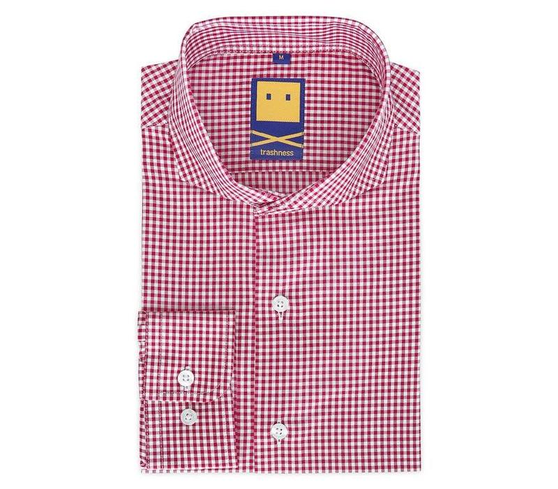 CUTAWAY GINGHAM RED SHIRT