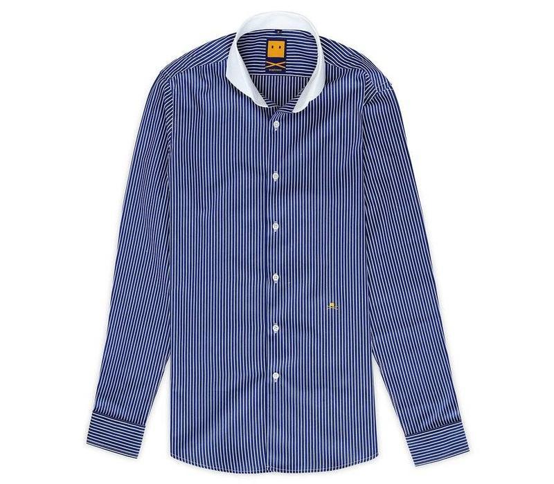 CUTAWAY STRIPED BLUE SHIRT