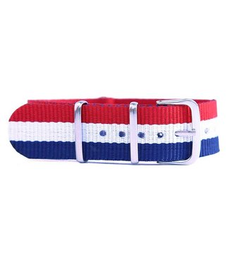 Trashness NATO STRAP RED/WHITE/BLUE