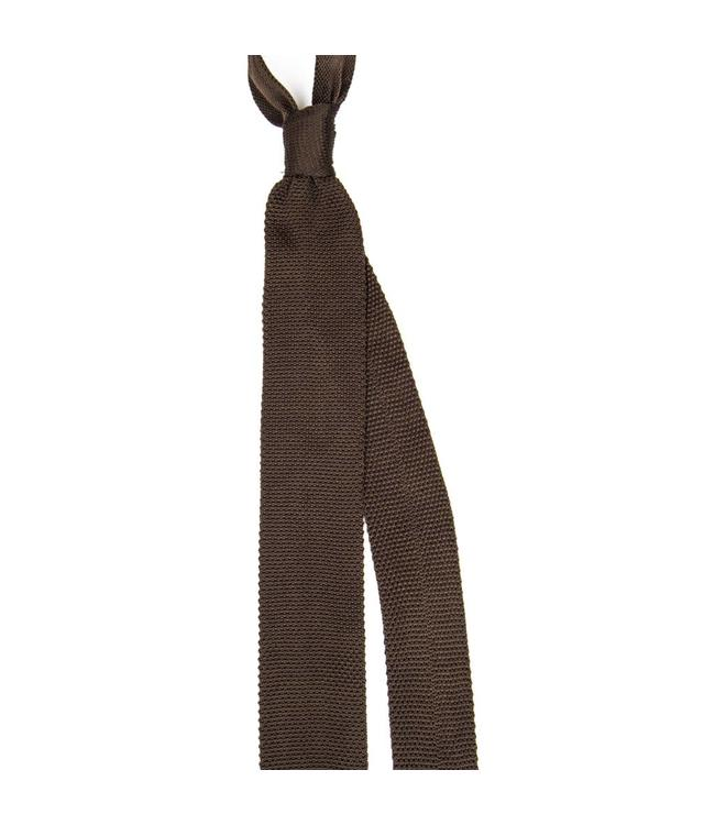 Trashness BROWN KNIT TIE