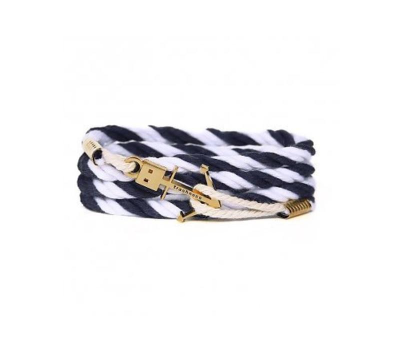 blue leather famosa from jewellery qudo navy bracelet gold image rose