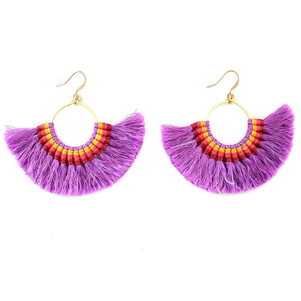 Coco Bonito Tel Earrings Orange Copy