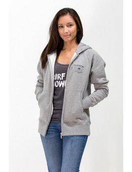 Surf Snowdonia Academy Zip Hoodie Grey