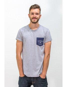 Surf Snowdonia Academy Mens Pocket T Grey/Blue