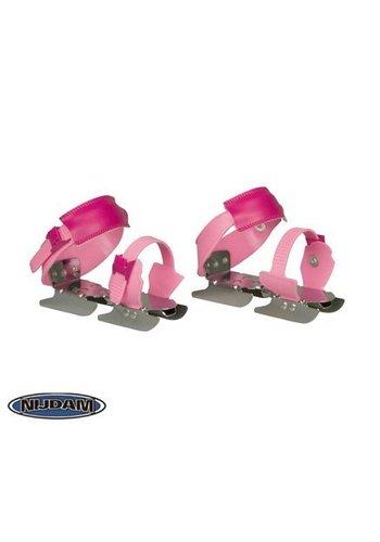 Nijdam Roze twee ijzer schaatsen - glij ijzers