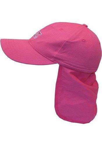 Zunblock Roze UV cap met oor en nelbescherming- Hoofdomvang 50/52