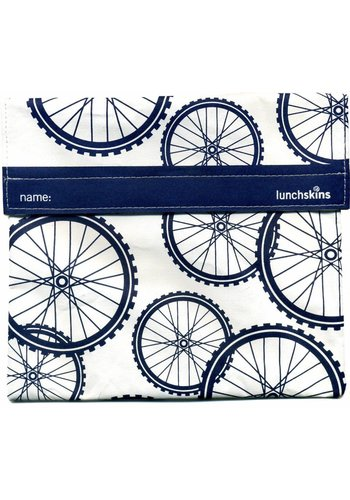 Lunchskins Stoffen lunchzakje blue bike