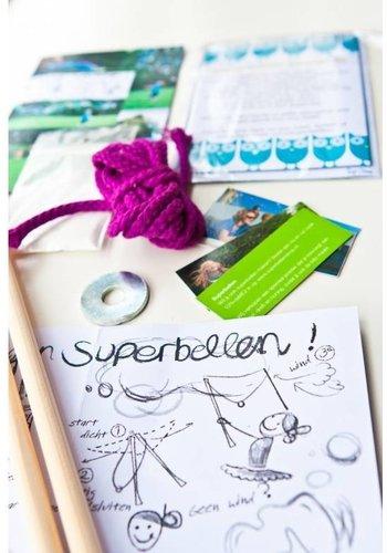 Superbellen Feestpakket M bellenblaas poeder met ????n bellenstok