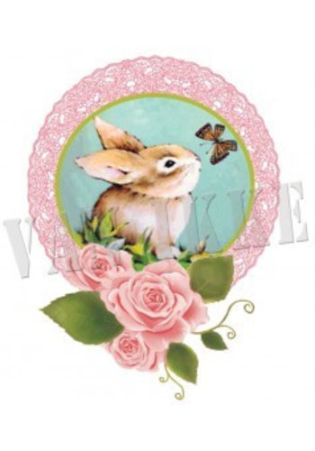 Vanikke Applicatie konijntje voor overall