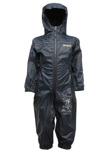 Regatta Kinderregenpak Puddle, navy blauw, ademend en lichtgewicht