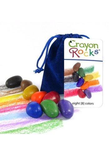 CrayonRocks Soja waskrijtjes 8 stuks in luxe zakje van blauw fluweel