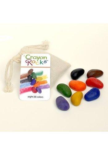 CrayonRocks Soja waskrijtjes 8 stuks in ecru katoenen zakje