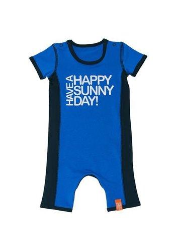 HappySunnyDays UV beschermende baby romper blauw