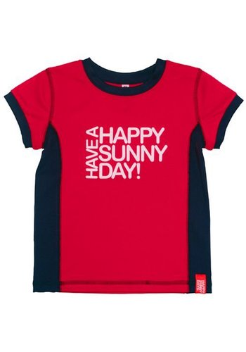 HappySunnyDays Uv-T-shirt korte mouwen, rood- Sunset