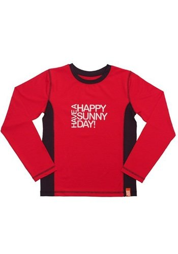 HappySunnyDays Uv-T-shirt lange mouwen, rood Fiji