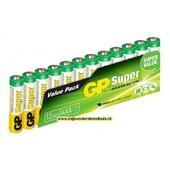 AAA GP batterij 12stuks