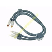 Tulp naar tulp kabel 5M Gold Master series