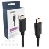 A-DAPT A-DAPT USB-C 3.0 naar Micro USB-B kabel 1m zwart