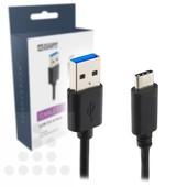 A-DAPT USB type A 3.0 naar USB-C 3.1 1m T155
