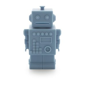 KG Design Robot spaarpot blauw