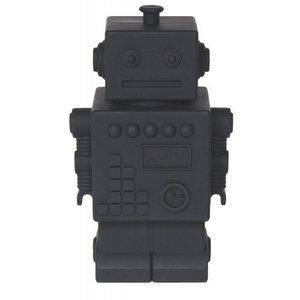 KG Design Robot spaarpot zwart