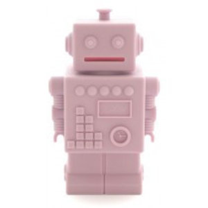 KG Design Robot spaarpot roze
