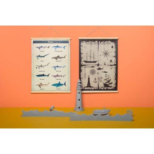 Little and Pure Schoolplaat haaien