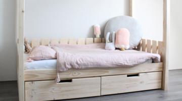 Superleuk bed met lades