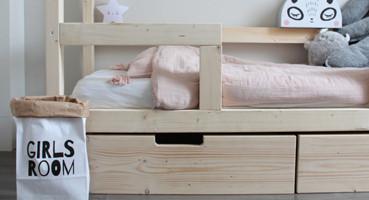 Bedhuisje Finn met lades en uitvalbeveiliging