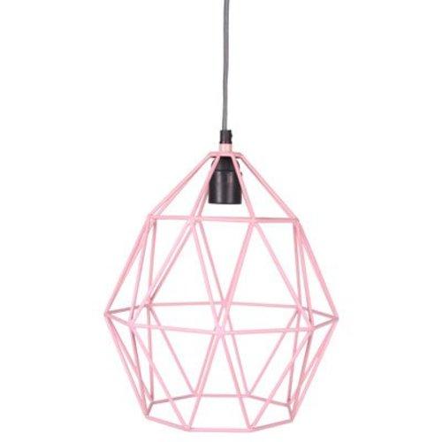 KidsDepot Wire hanglamp roze