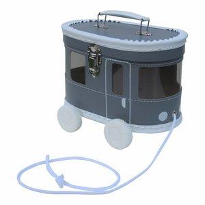 Kidsboetiek Grijze tram koffertje
