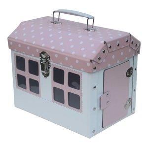 Kidsboetiek Roze huisje koffertje