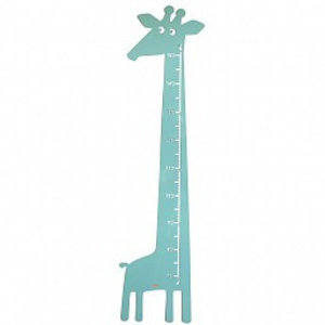 Roommate Meetlat giraffe pastel blauw