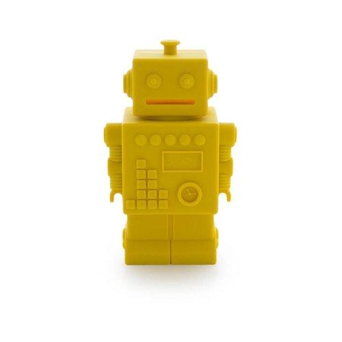 KG Design Robot spaarpot geel