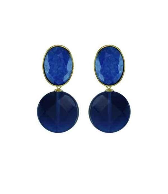 Souvenirs de Pomme Oorbel Fifty Blue