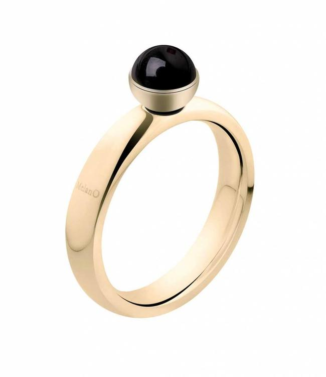 MelanO Twisted ring, gold plated