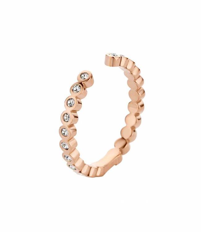 MelanO Ring Twisted Tina CZ, RG