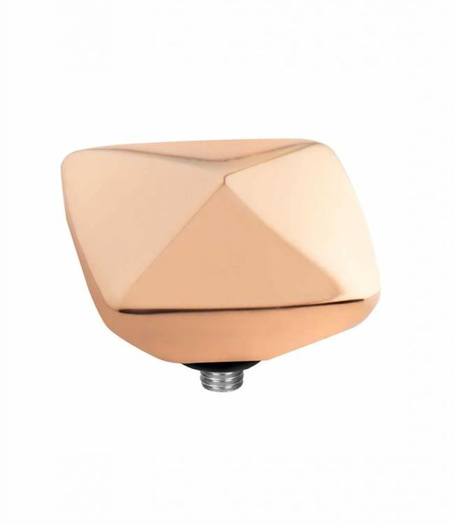 MelanO Twisted serring 09MM, rose gold plated