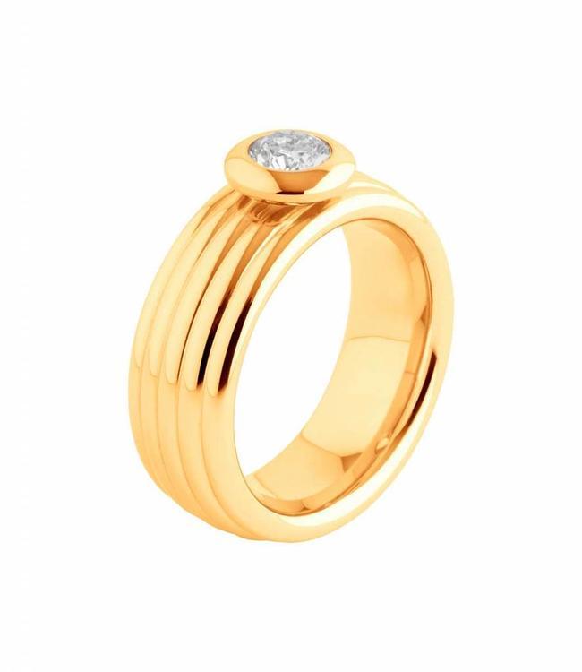 MelanO Ring vivid vera gold plated
