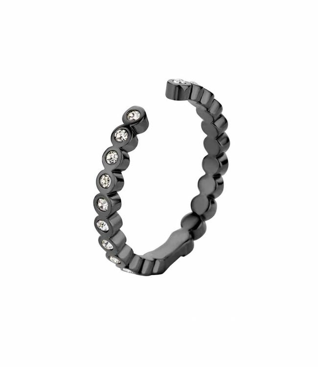 MelanO Ring Twisted Tina CZ, BL