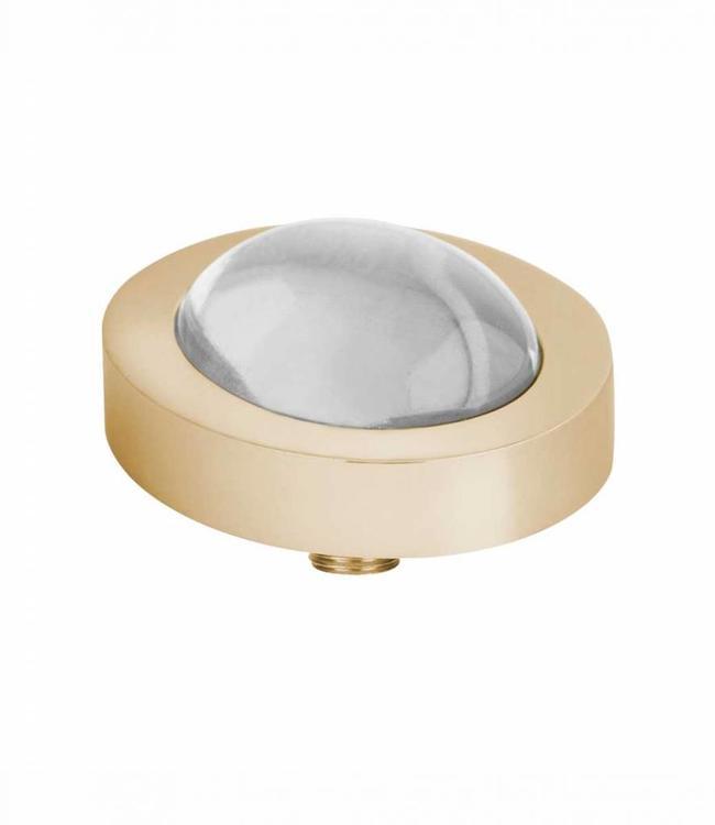 MelanO Vivid CZ setting, oval G, Crystal