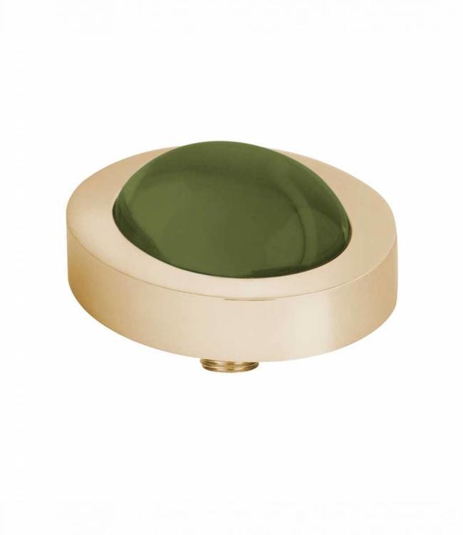 MelanO Vivid CZ setting, oval G, Olive