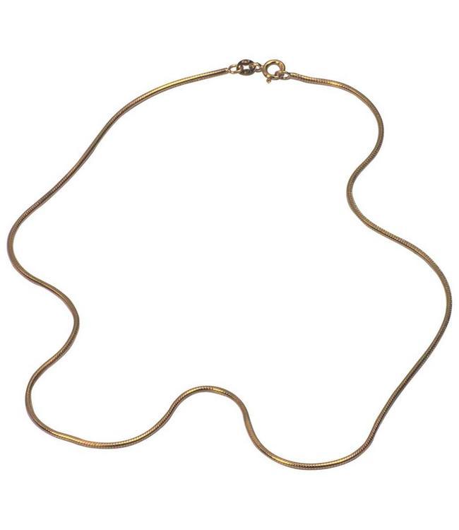 MelanO Halsketting Snake 1,35MM, G