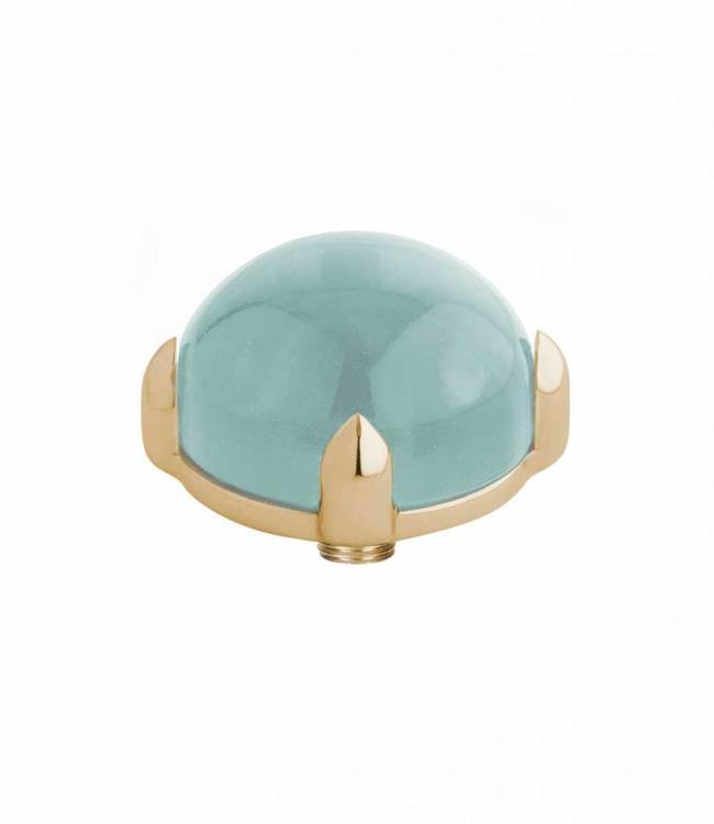 MelanO Twisted meddy round, G, Turquoise