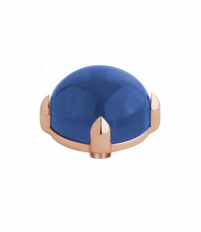 MelanO Twisted meddy round, RG, Blue