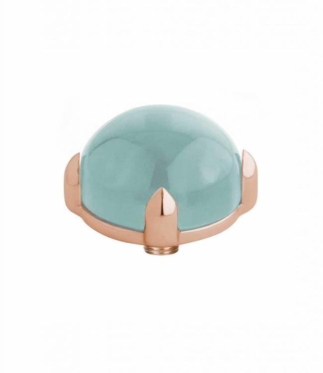 MelanO Twisted meddy round, RG, Turquoise