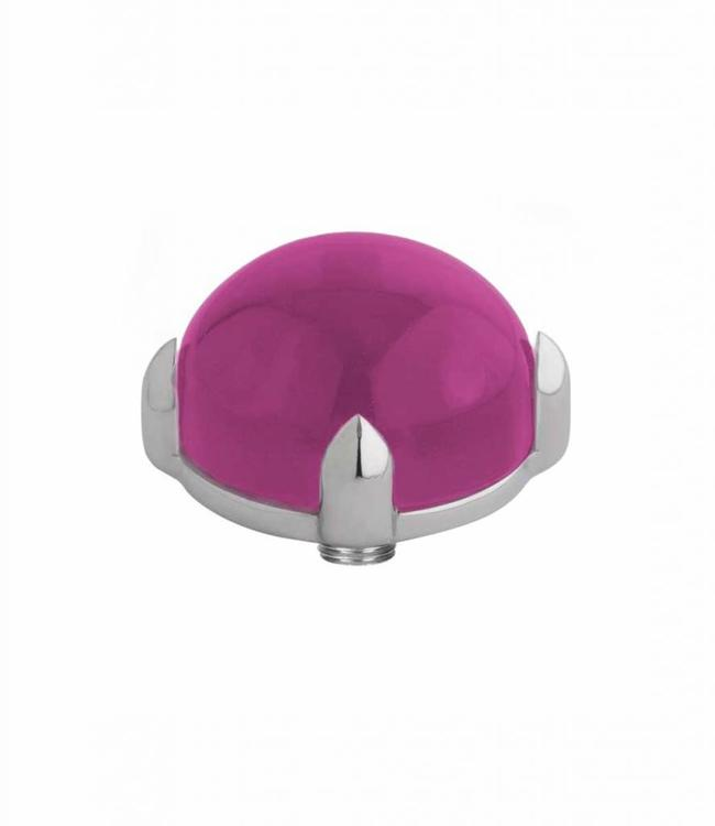 MelanO Twisted meddy round, SS,  Fuchsia